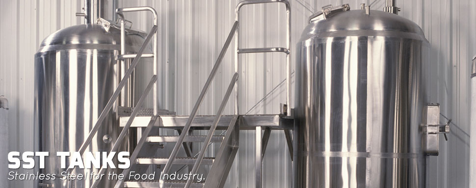 SST Tanks - Stainless Steel for the Food Industry.